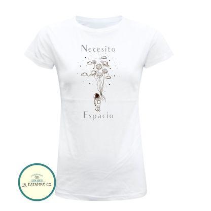 necesito espacio camiseta original para mujer en color blanco ideas para regalar camisetas minimalistas camisetas bonitas