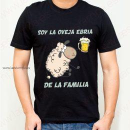 camiseta de hombre soy la oveja ebria de la familia humor