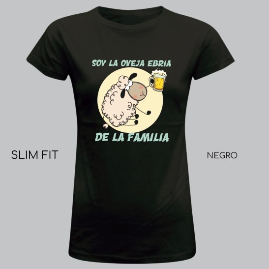 oveja ebria camiseta humor chica