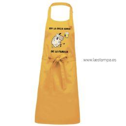 delantal de cocina humor soy la oveja ebria de la familia