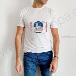 camiseta friki ramen para chico manga corta japon