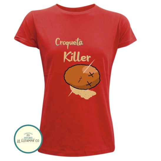 camiseta croqueta killer para mujer asesina de croquetas humor las mejores camisetas