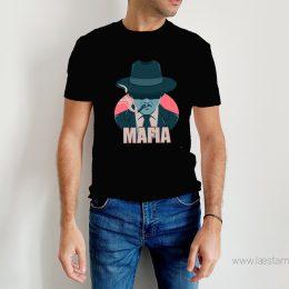 camiseta hombre mafia friki color negro algodon manga corta las mejores camisetas frikis