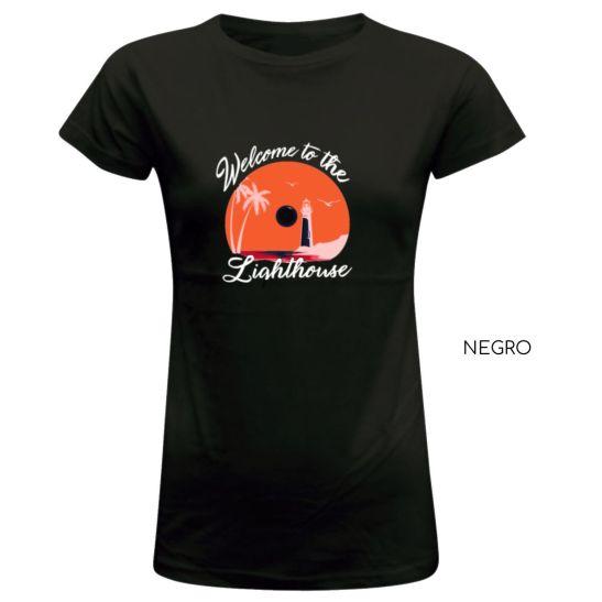 camiseta mujer lighthouse faro beach estilo playa surf