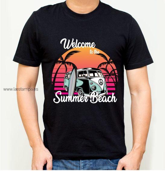 camiseta hombre unisex summer beach