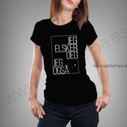 camiseta mujer jeg elsker deg.