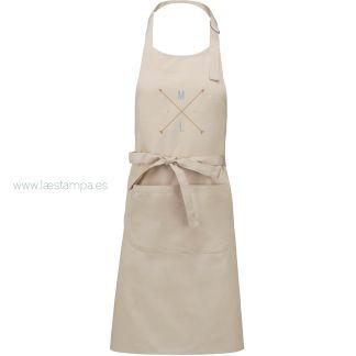 delantal de cocina personalizado iniciales