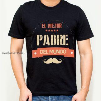 camiseta para hombre el mejor padre del mundo