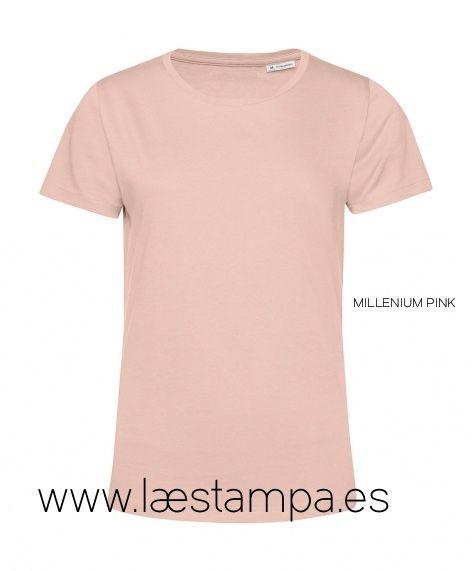 Camiseta mujer organica bio de algodón B&C E150