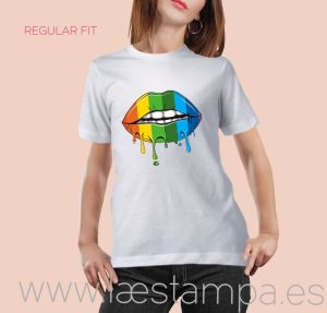 camiseta unisex multicolor lips regular fit
