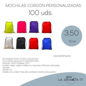 mochilas pack de 100 baratas personalizadas
