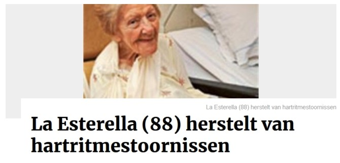 La Esterella herstelt van hartritmestoornissen - GVA
