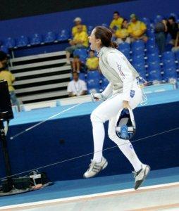 Zacha Acosta en un combate que ganado en los Juegos Panamericanos 2007.