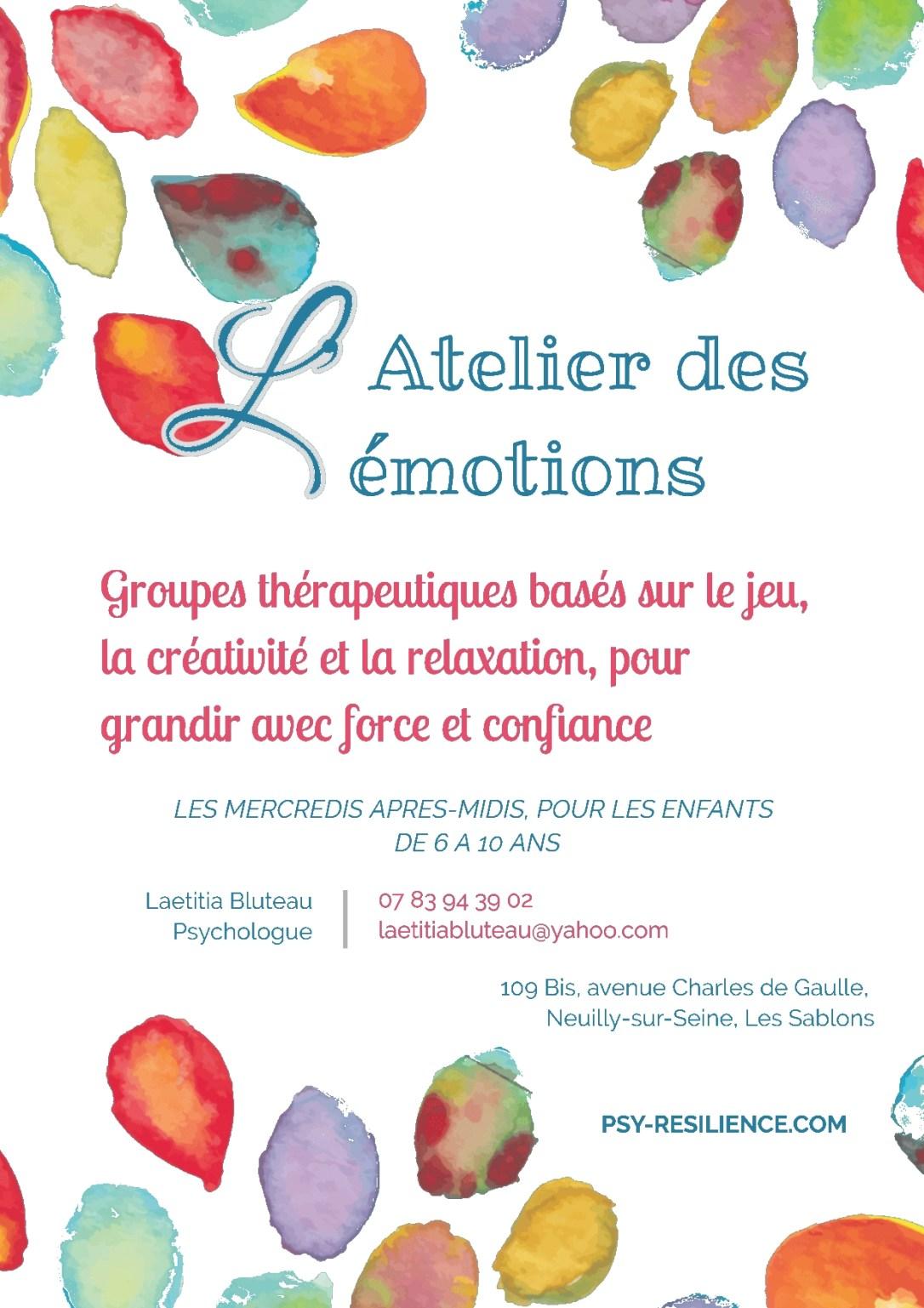 L'atelier des émotions Neuily Les Sablons