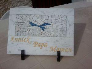 plaque envol laetitia gauthier mosaique art funéraire