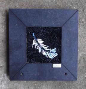 plume - laetitia gauthier mosaique art funéraire