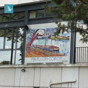 pavillon Corot à Port Marly : une mosaïque murale gigantesque