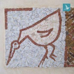une mosaïque donnant des airs d'Afrique à une salle de bains...