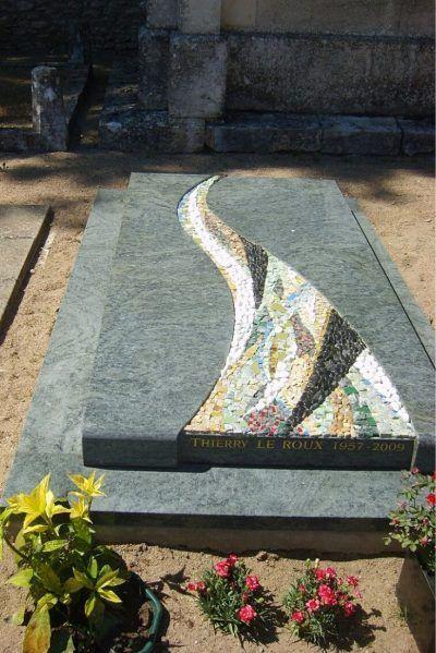 mosaïque sur pierre tombale personnalisé