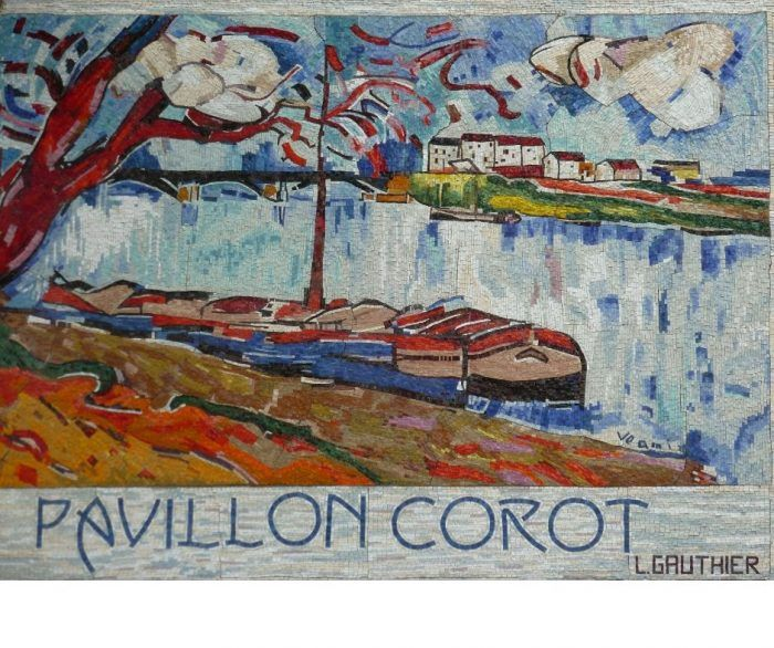 mosaïque port marly pavillon corot