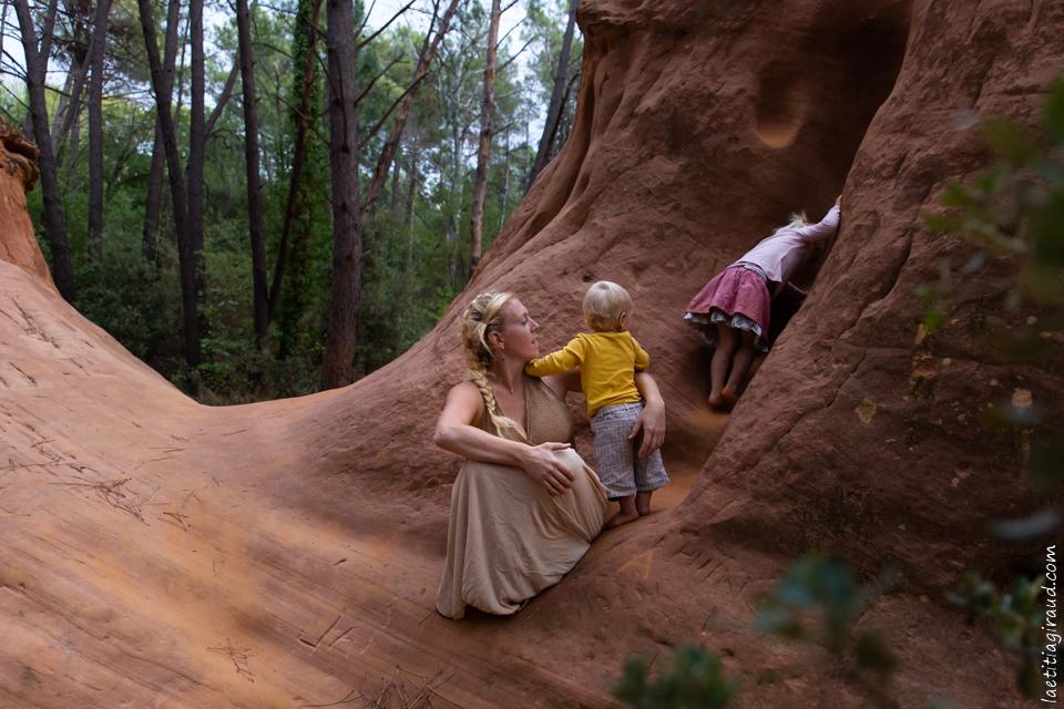 promenade en forêt en famille
