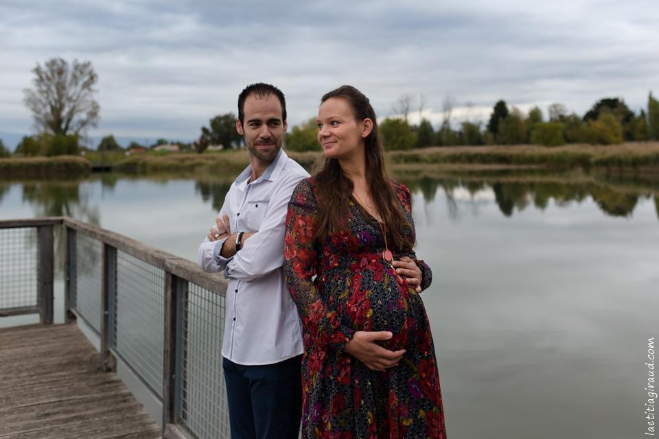 Séance photo de couple au lac de Monteux