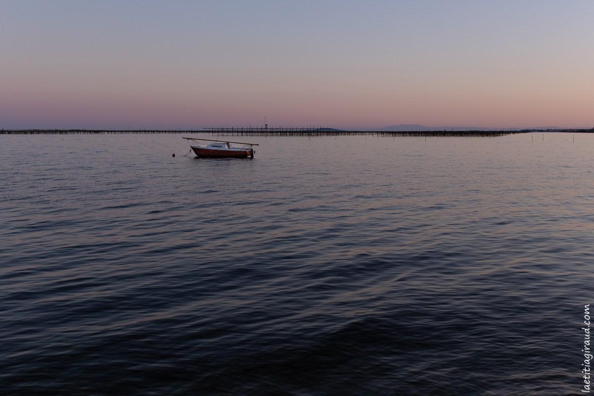 couché de soleil a la mer