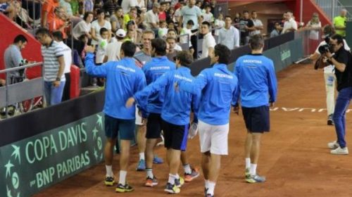 Copa Davis: El equipo argentino llega a San Juan
