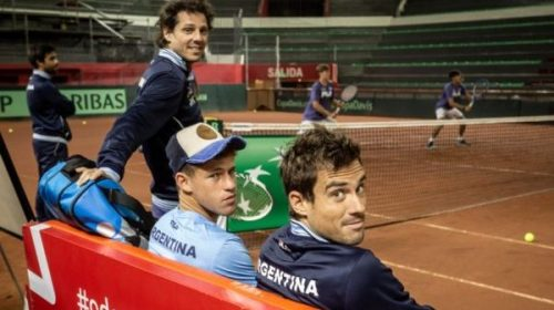 Las mejores fotos del entrenamiento del equipo argentino de Davis en el Cantoni