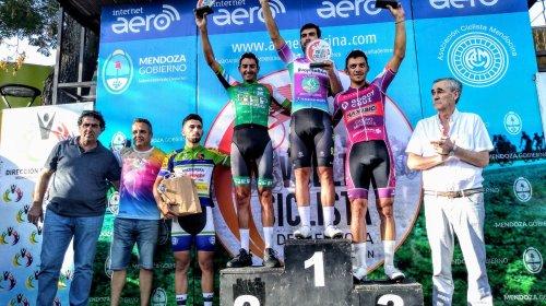 Dotti quedó segundo en la etapa de la Vuelta a Mendoza pero sigue como líder de la general