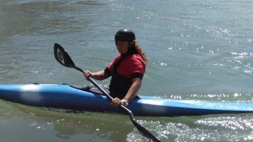 El entrenamiento de Ana Pickenhayn en kayak, sin agua