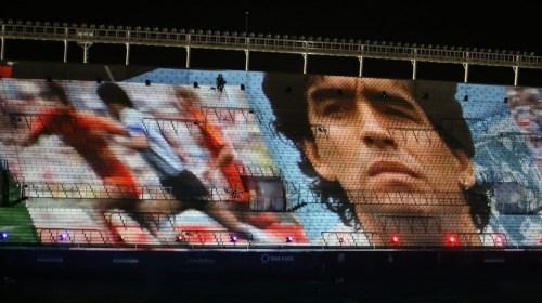 El emotivo homenaje a Maradona en el Estadio del Bicentenario