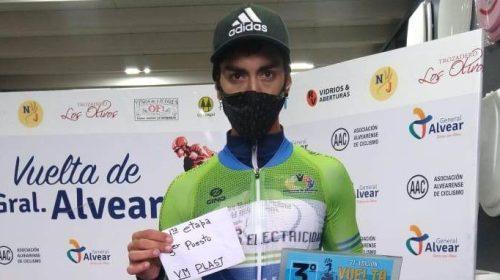 Nico Naranjo fue subcampeón en la Vuelta a General Alvear