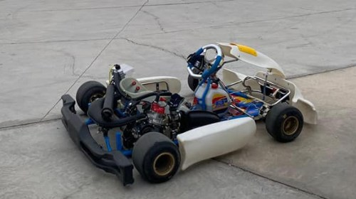 Impecable: Ulises Campillay probó su nuevo karting