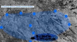 Localización general ciudaes provincia de badajoz.