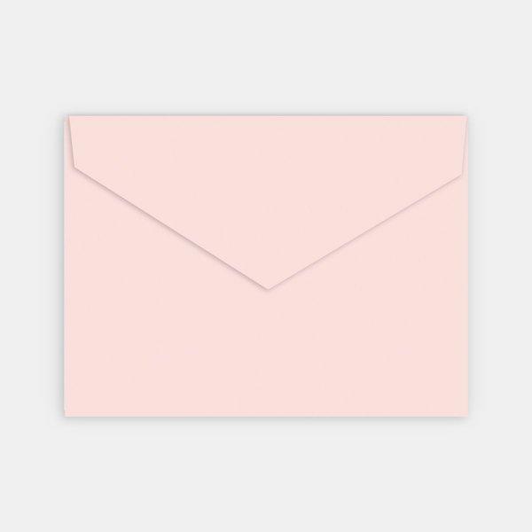 enveloppe rose poudré naissance