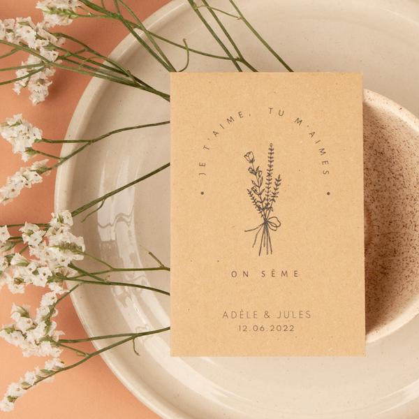 cadeau invités mariage pour la table