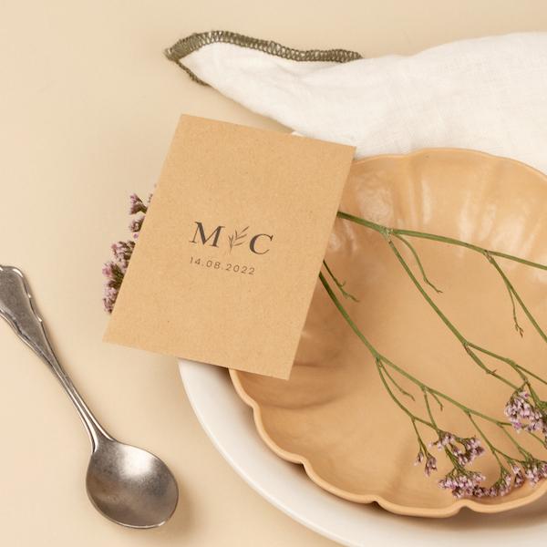 cadeaux invités décoration de table minimaliste