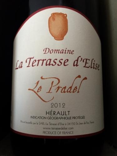 La Terrasse d'Elise - Le Pradel - 2012 - Rouge