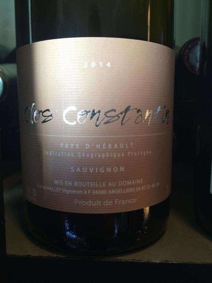 Clos Constantin - Sauvignon - 2014 - Blanc