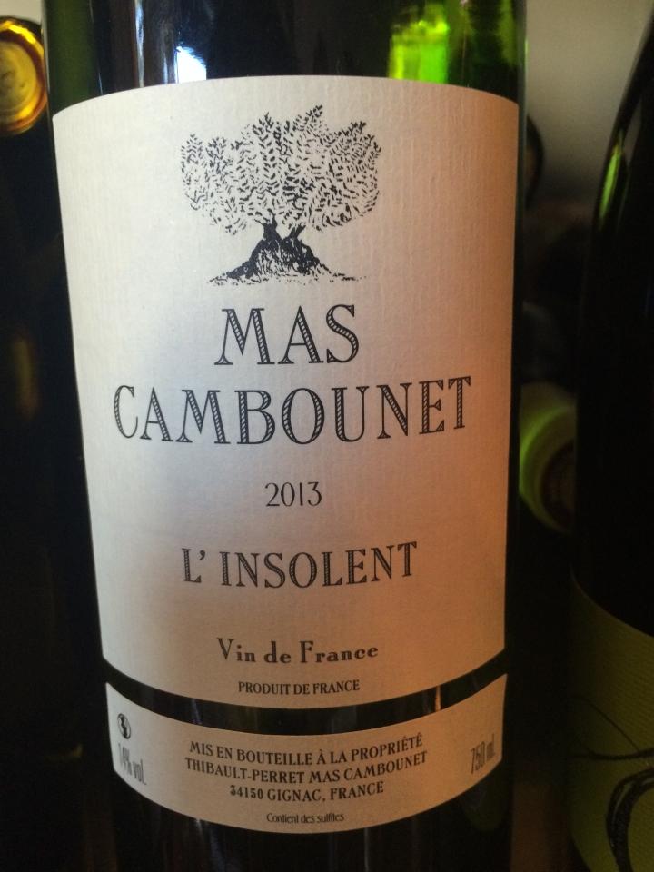 Mas Cambounet - L'insolent - 2013 - Blanc