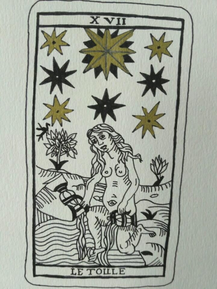 inktober-l'étoile-tarot