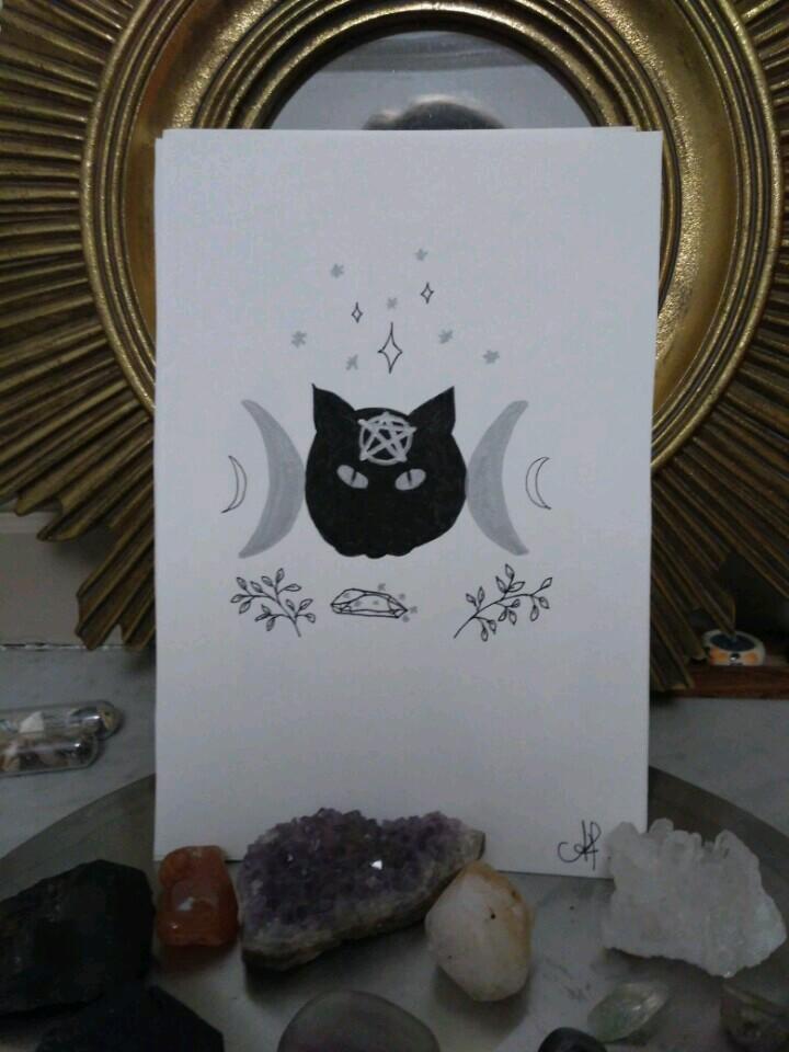 inktober-chat-noir