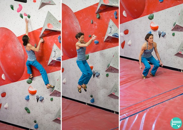 how to fall when bouldering