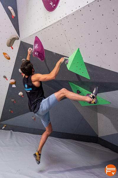 chute grimpeur