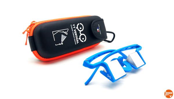lunettes prismatiques assurage escalade Plasfun Evo Bleu Etuis