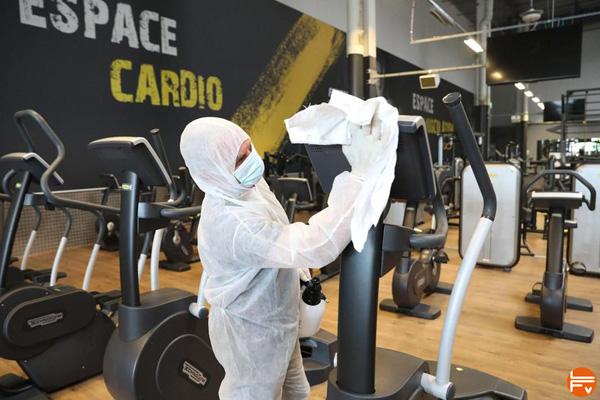 fermeture salles de fitness