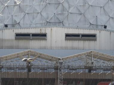 Ouïes des gradins (P. Dufau & R. Buckminster Fuller)