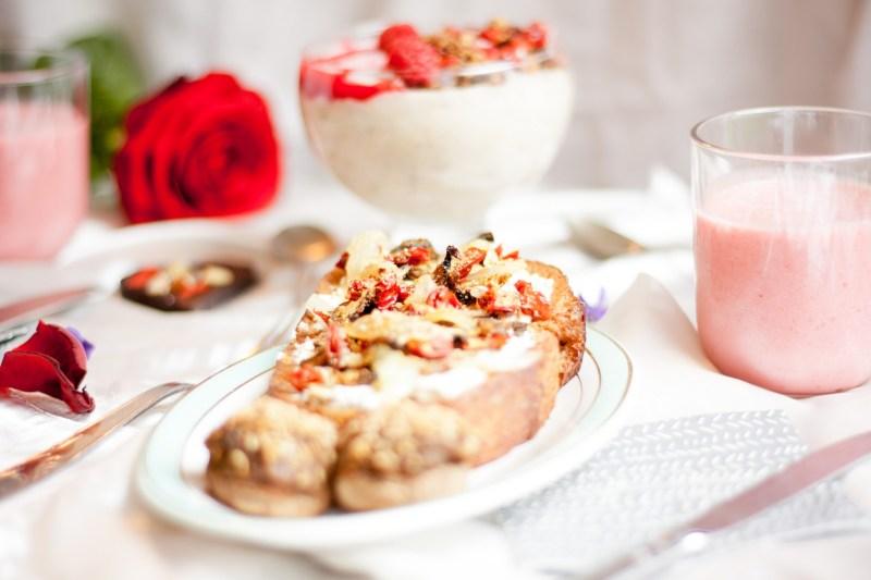 Brunch des amoureux - pain perdu salé forestier {vegan, sans gluten, IG réduit} | www.lafaimestproche.com