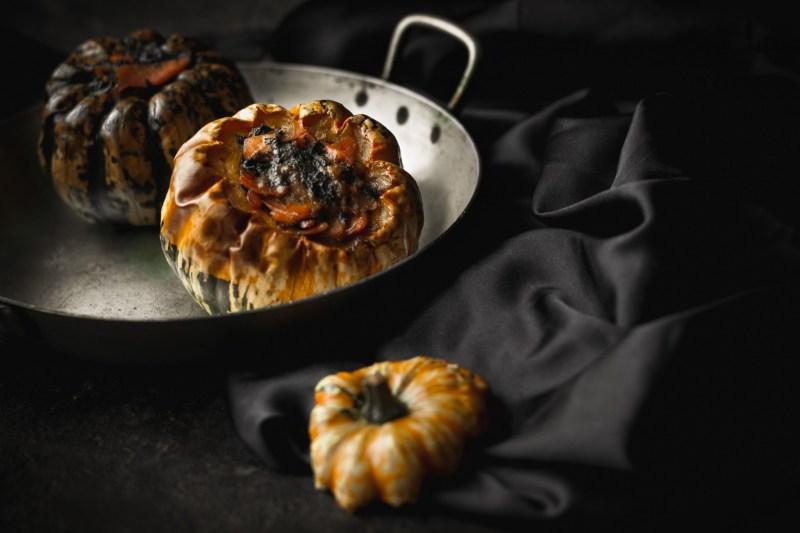 Courges farcis aux épinards et saumon fumé {sans gluten, IG bas} | www.lafaimestproche.com